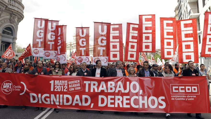 Manifestación del Día del Trabajo en Valladolid el año pasado / EFE