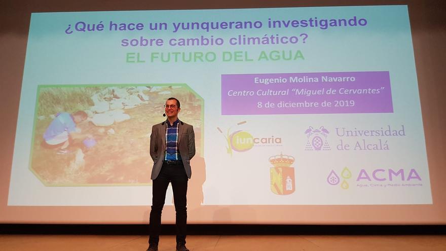 Charla de Eugenio Molina en Yunquera de Henares