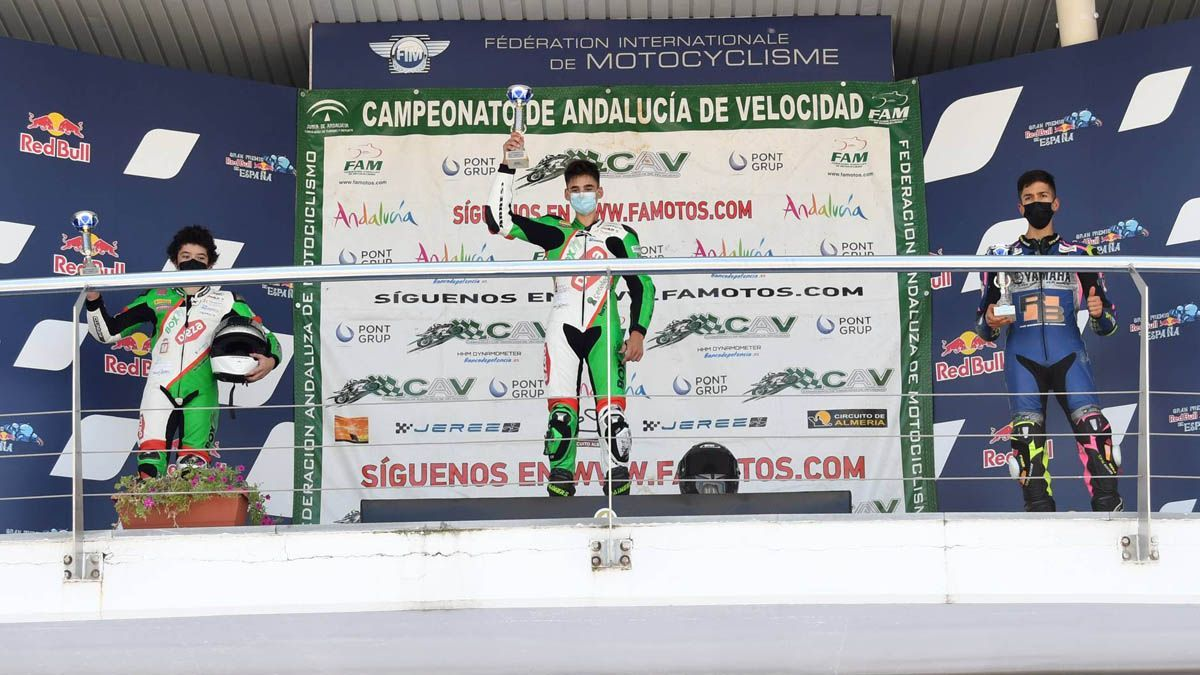 Bruno Baños y Luismi Heredia, en el podio de Jerez
