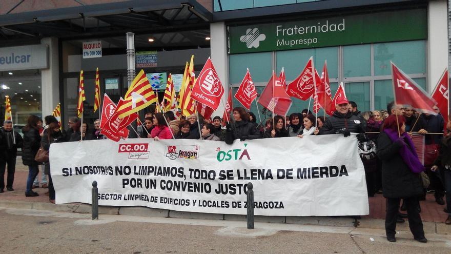 Trabajadoras, en una de las protestas.