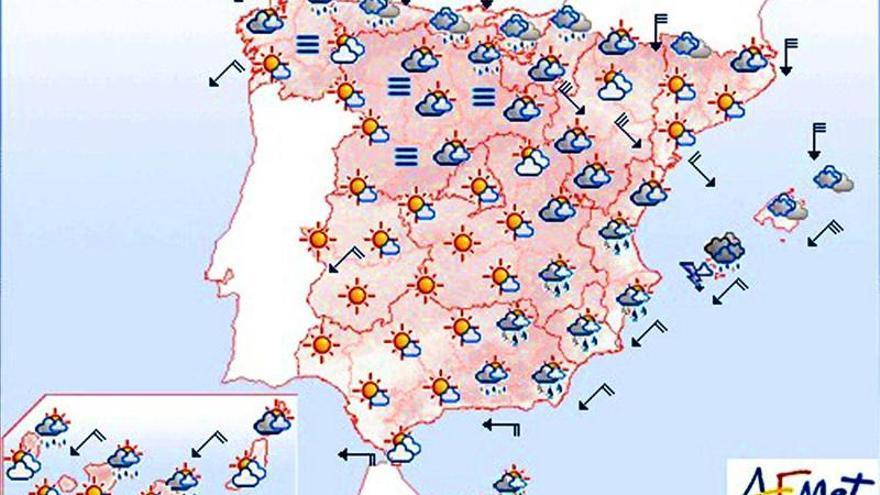 Lluvias fuertes en el extremo sureste peninsular, Ibiza y Formentera