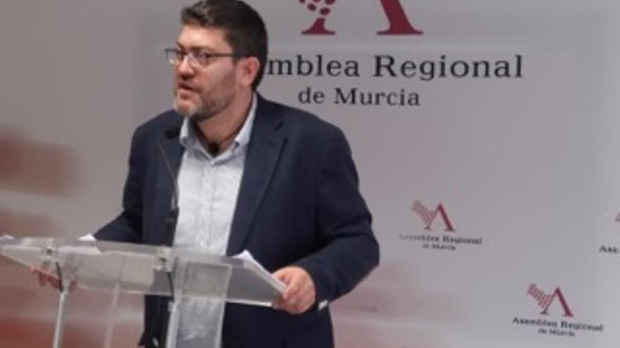 Miguel Sánchez, portavoz de Ciudadanos en la Asamblea Regional.