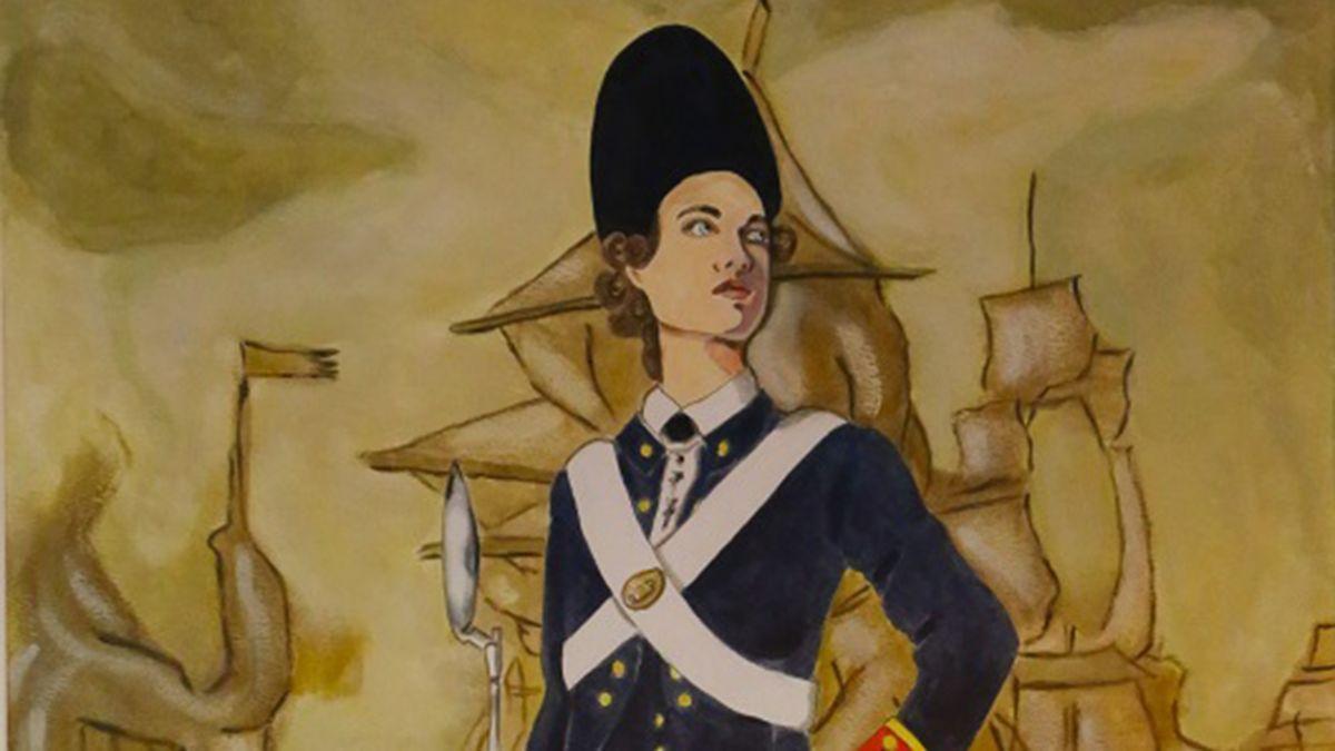 Reproducción de una imagen de Ana María de Soto y Alhama en el Museo Naval de la Armada.