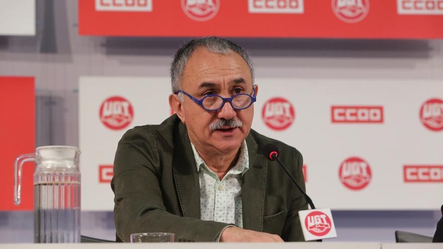 """Álvarez (UGT), sobre Cataluña, lamenta que se trate en los juzgados """"lo que corresponde a la política"""""""