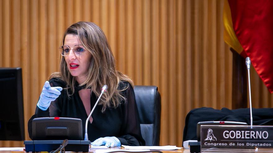"""Yolanda Díaz aclara que Trabajo """"no habla de reapertura de actividades sino de planificación de medidas"""""""
