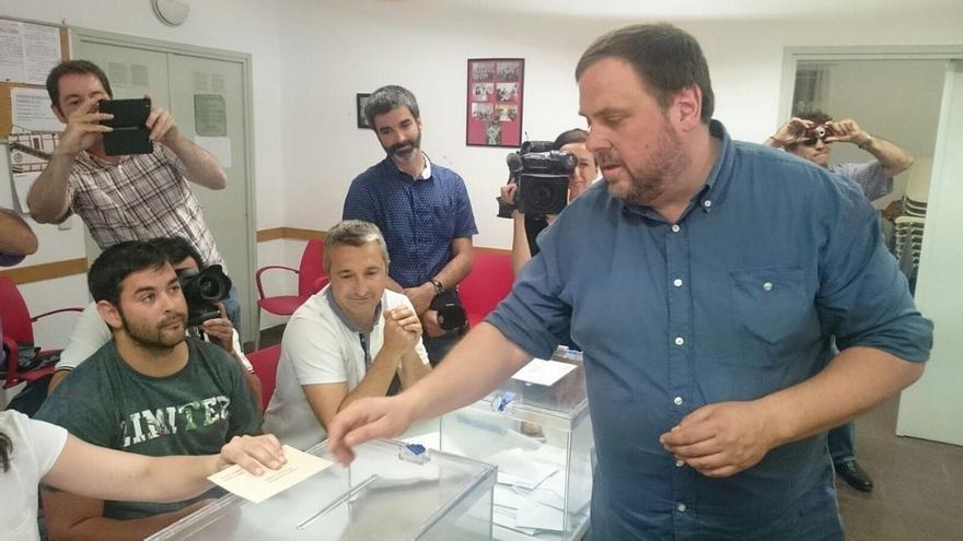 """Junqueras llama a votar frente a las actitudes del Estado que """"amenazan"""" la democracia"""
