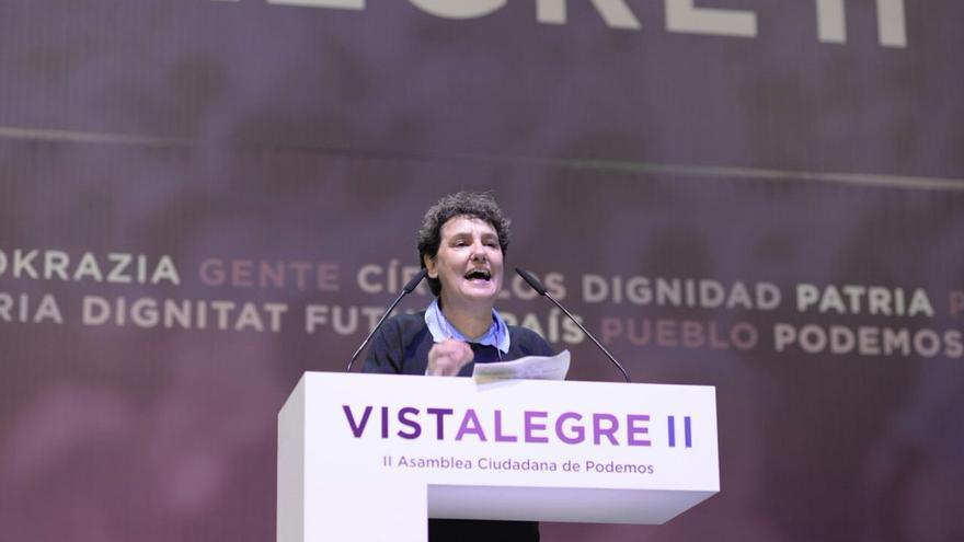 Beatriz Gimeno en Vistalegre II. Imagen del twitter de Miguel Urban