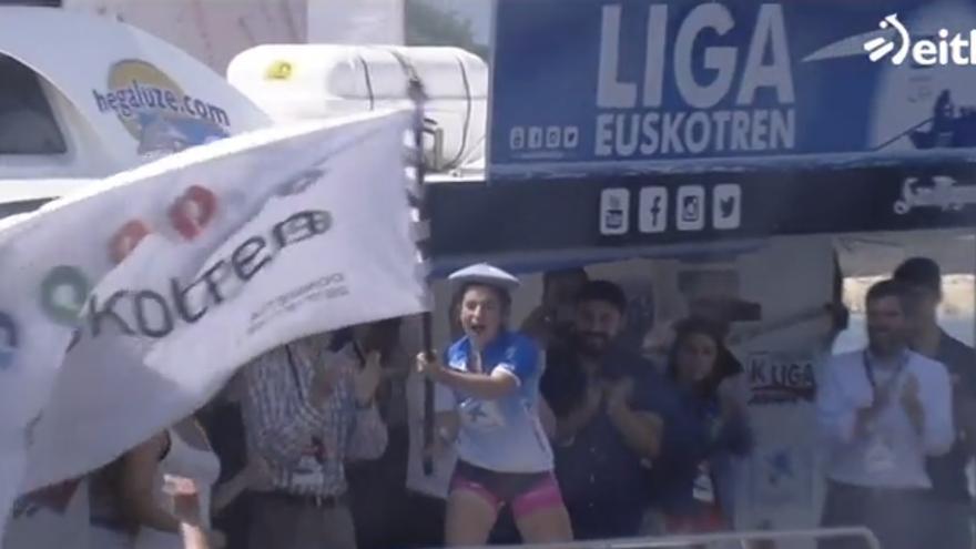 Captura de la única noticia sobre deporte femenino en el Teleberri de este lunes