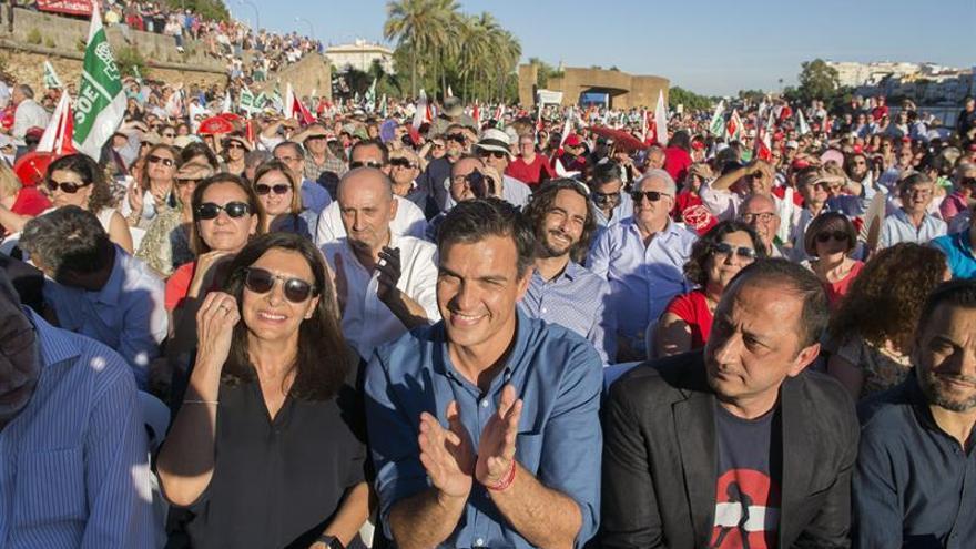 Hidalgo, Sánchez y Gómez de Celis, este viernes en Sevilla