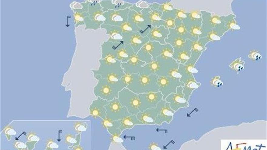 Mañana, descenso de las temperaturas en Canarias, Galicia y Cantábrico