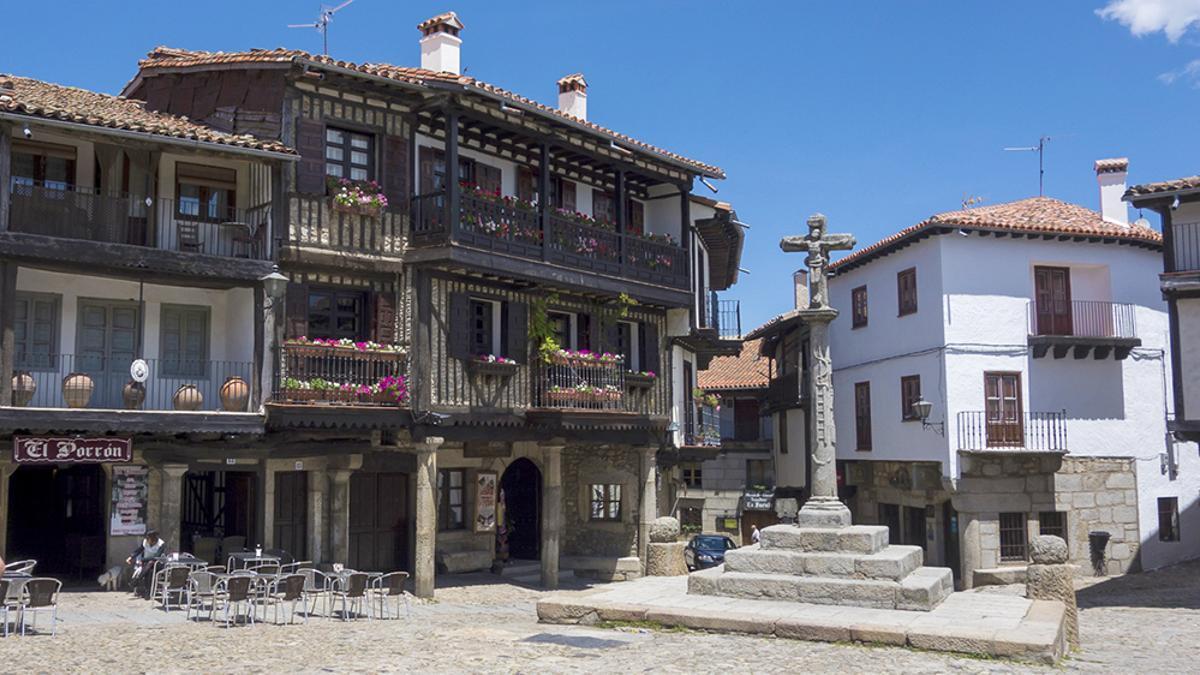 La Plaza Mayor de La Alberca.