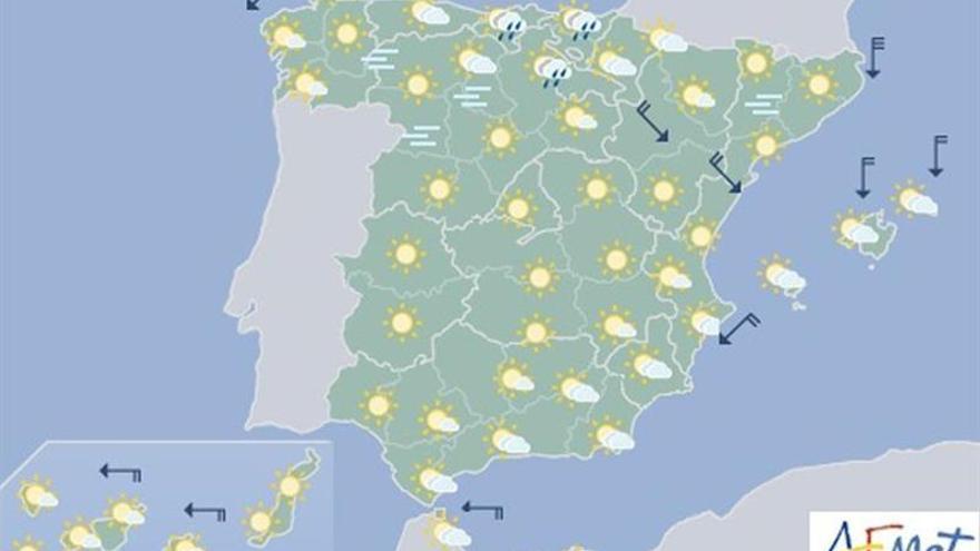 Hoy, ascenso de temperaturas en el área mediterránea y descenso en el norte peninsular