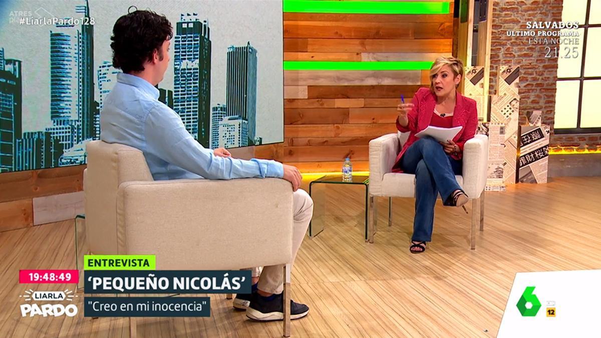 Cristina Pardo entrevista a Francisco Nicolás en laSexta