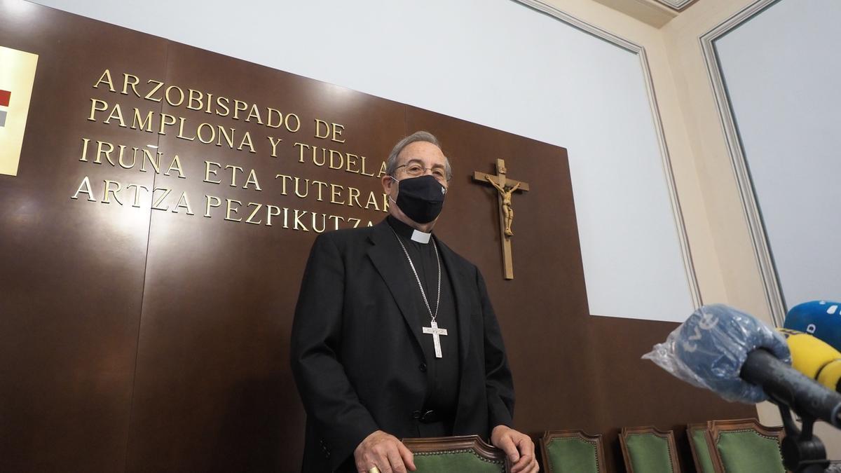 El arzobispo de Pamplona, Francisco Pérez