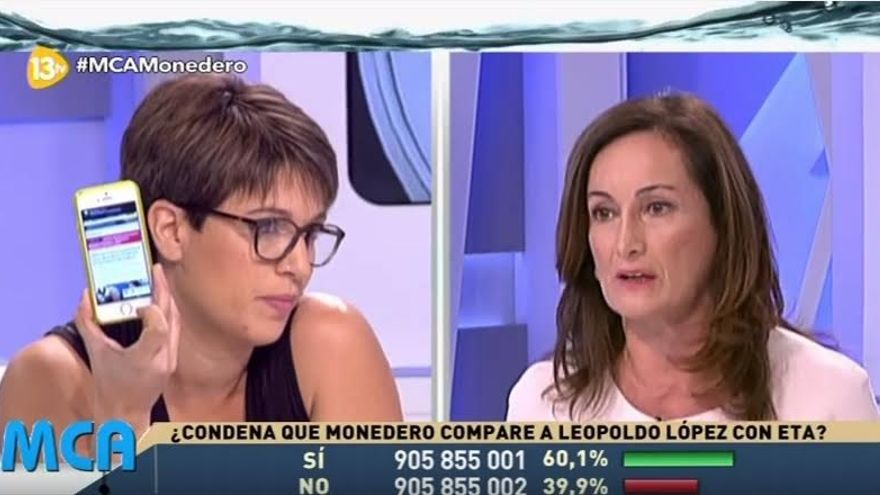 Edurne Uriarte y Beatriz Talegón, en 13TV