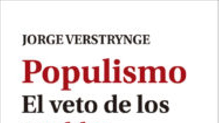 La portada de 'Populismo. El veto de los pueblos' (El viejo Topo), de Jorge Verstrynge y con prólogo de Pablo Iglesias.