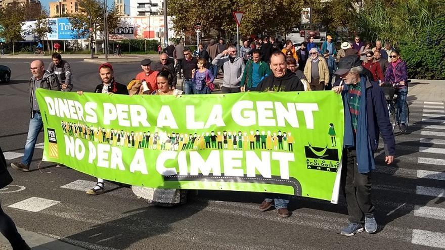 Imagen de la protesta de Per l'Horta