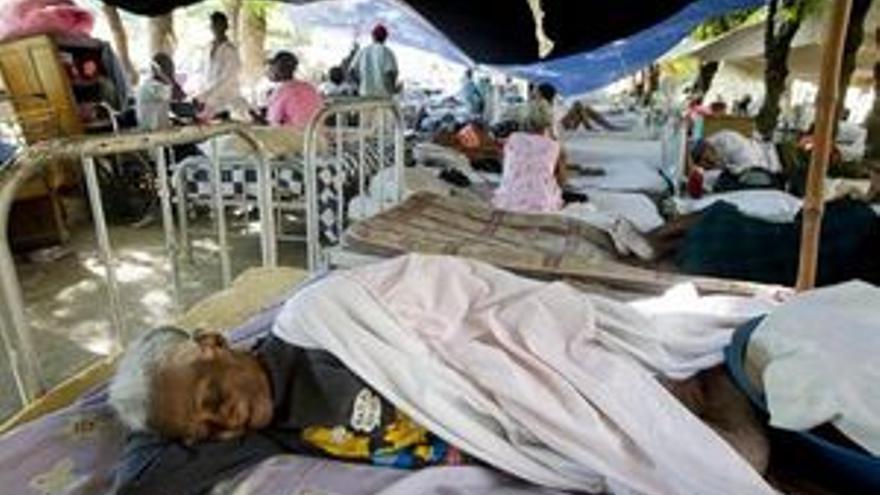 Afectados por el cólera en Haití. (EUROPA PRESS)