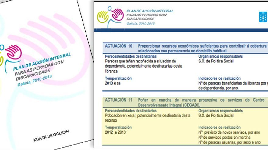 Referencia al CEGADI en el plan de discapacidad 2010-2013 de la Xunta