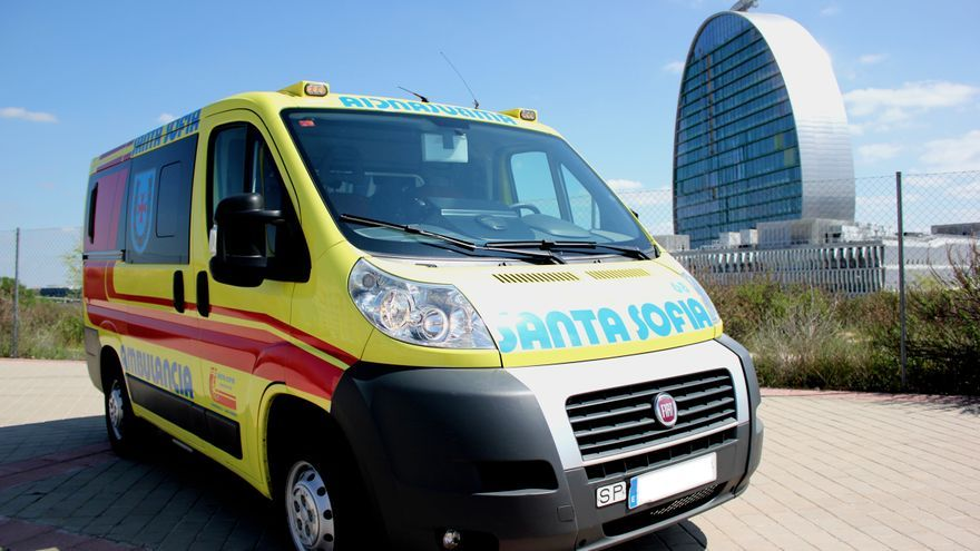 Ambulancia de Santa Sofía, adjudicataria del servicio de traslados programados en Madrid. / Santa Sofía