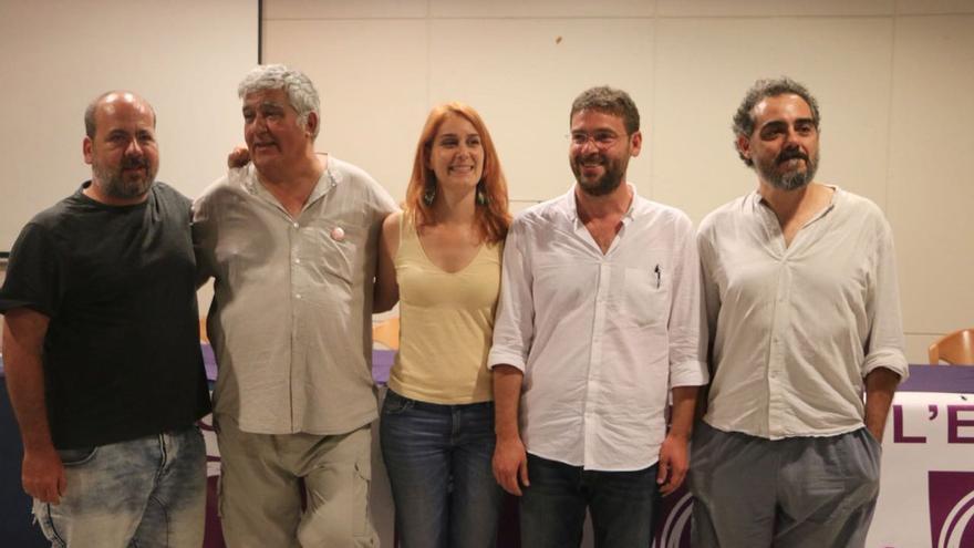 Los cinco candidatos a la secretaría general, en un debate celebrado en Tortosa
