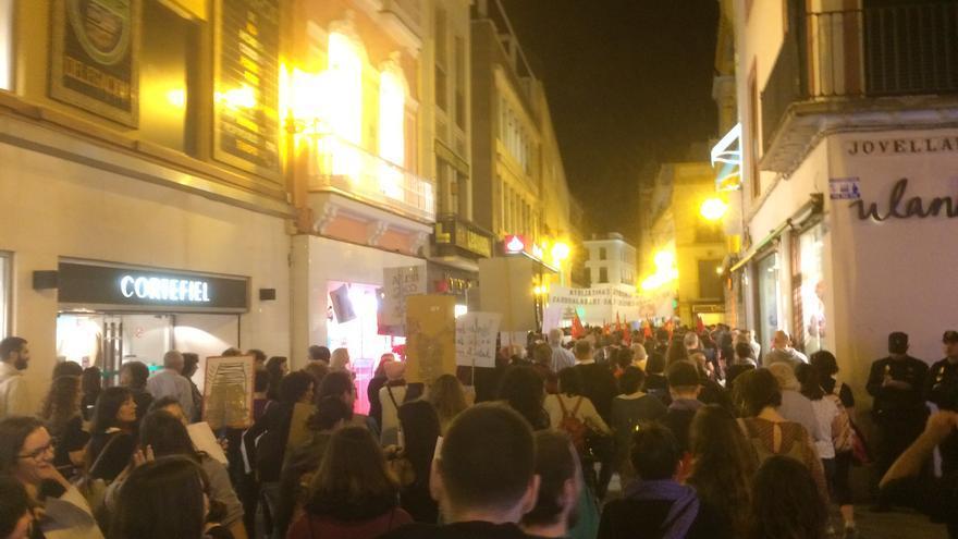 Manifestación en la ciudad de Sevilla con motivo del 8 de marzo