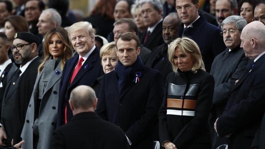 """Macron: """"El patriotismo es justo lo contrario del nacionalismo"""""""