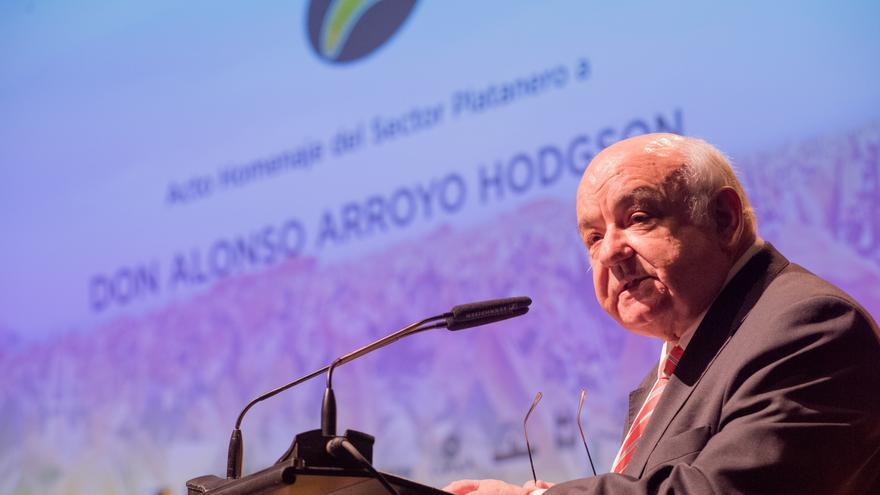Alonso Arroyo, este lunes en el homenaje del Auditorio de Tenerife