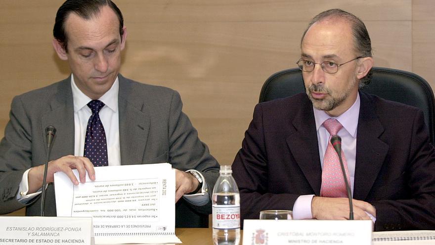 Estanislao Rodríguez-Ponga con Cristóbal Montoro del que fue su mano derecha en 2003
