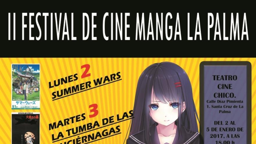 Cartel del Festival de Cine Manga.