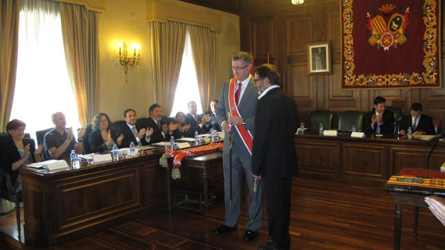 Manuel Blasco, en el día de su toma de posesión.