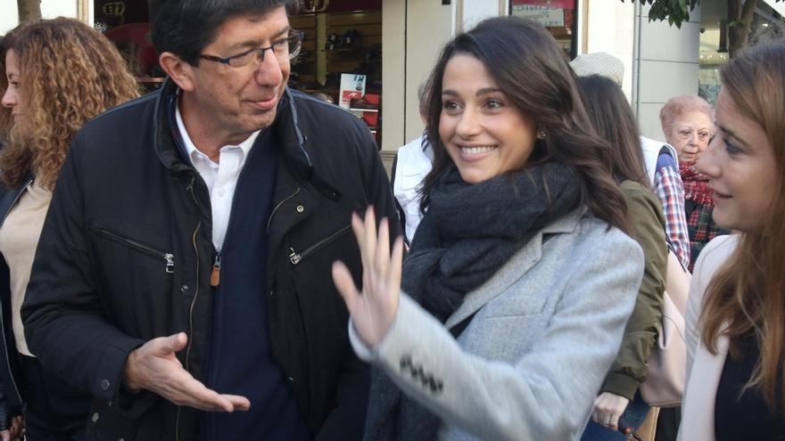 Ciudadanos celebra este domingo el primer aniversario del nuevo Gobierno andaluz con Arrimadas y Marín