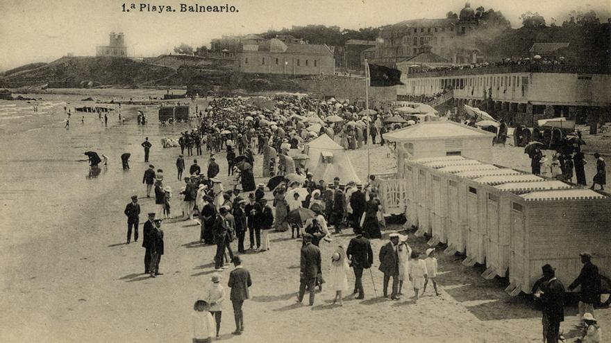 Hauser y Menet.*Sardinero.Primera Playa. Balneario,* 1910-1917, Colección Cecilia Gutiérrez Arriola, Centro de Documentación de la Imagen de Santander, CDIS, Ayuntamiento de Santander.