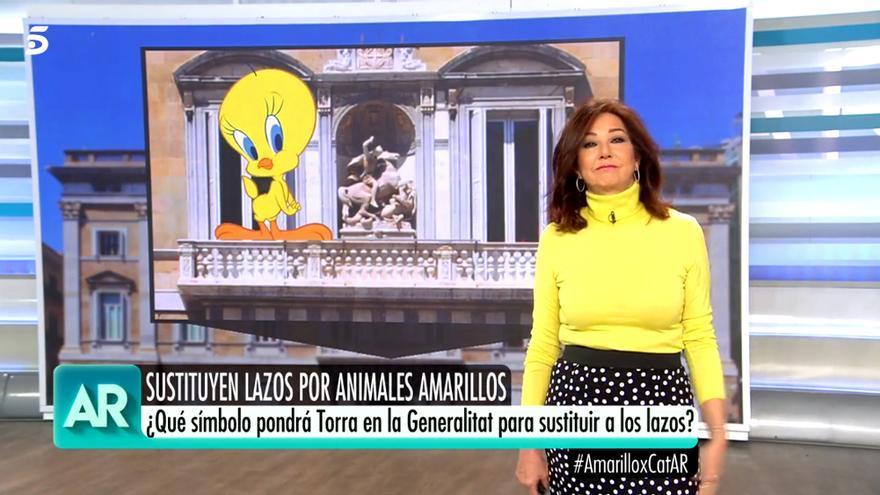 Ana Rosa Quintana, dirigiéndose a Torra