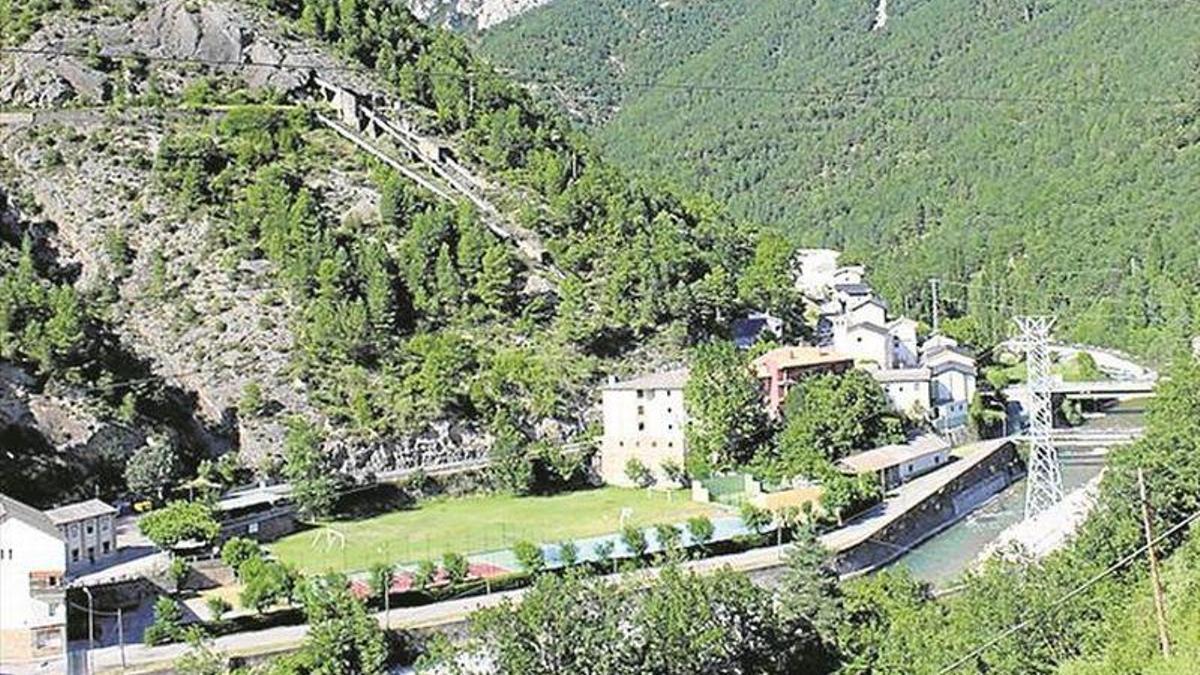 Salto hidroeléctrico de Lafortunada, en Huesca.