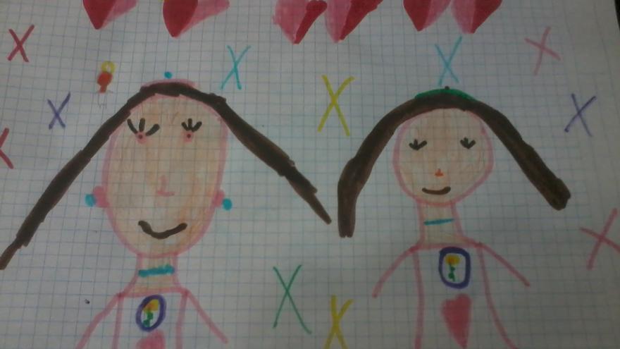 Un dibujo de Gabriela, cedido por la familia