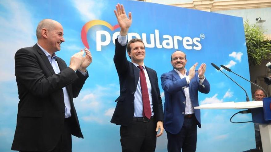 """Casado promete poner orden en Cataluña, que con él """"nunca será independiente"""""""