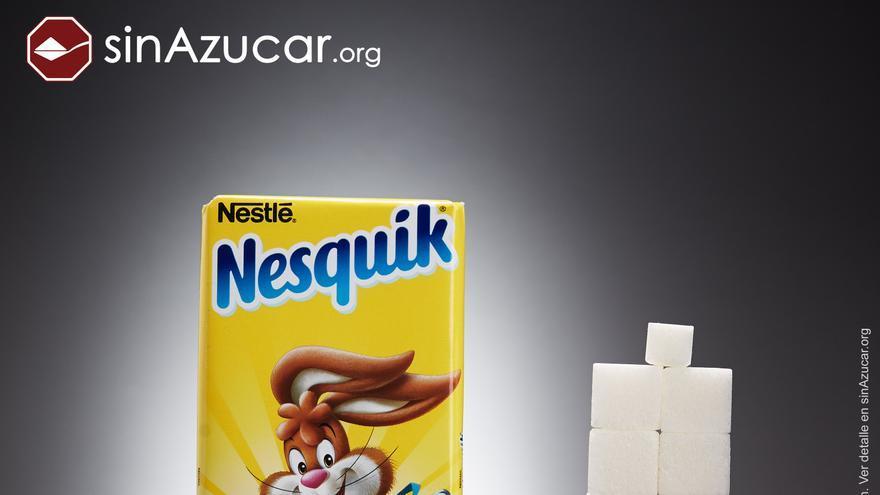 Terrones de azúcar en el Nesquick