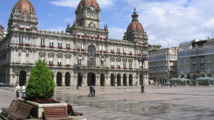 Fachada del ayuntamiento de A Coruña