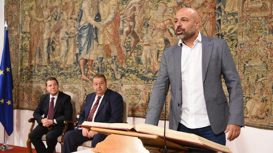 El vicepresidente segundo, José García Molina, en su toma de posesión / JCCM