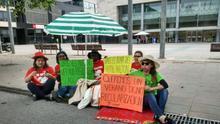 Protesta de Las Kellys en Barcelona.
