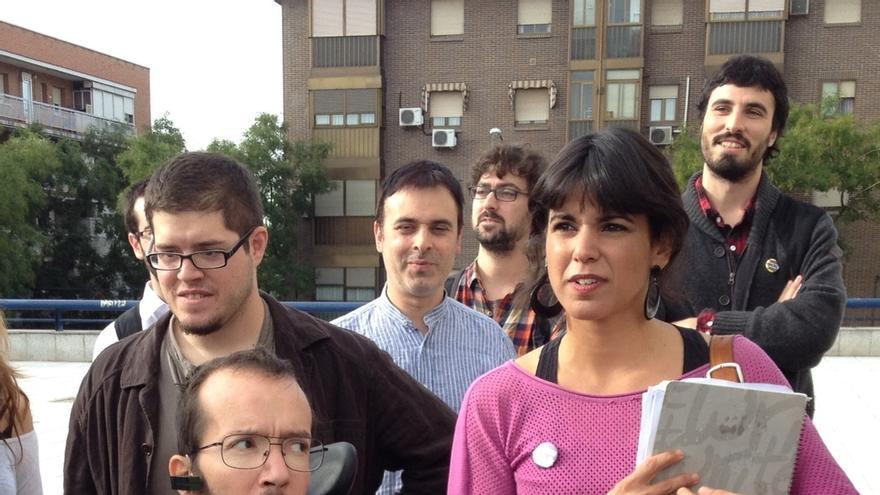 Teresa Rodríguez, durante el encuentro celebrado en Vistalegre en octubre.