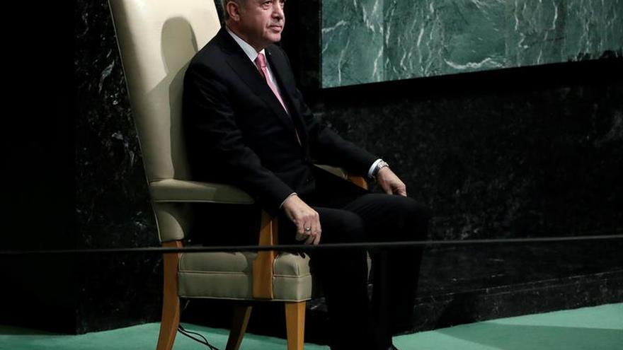 El presidente de Turquía, Recep Tayyip Erdogan en la Asamblea General de la ONU.