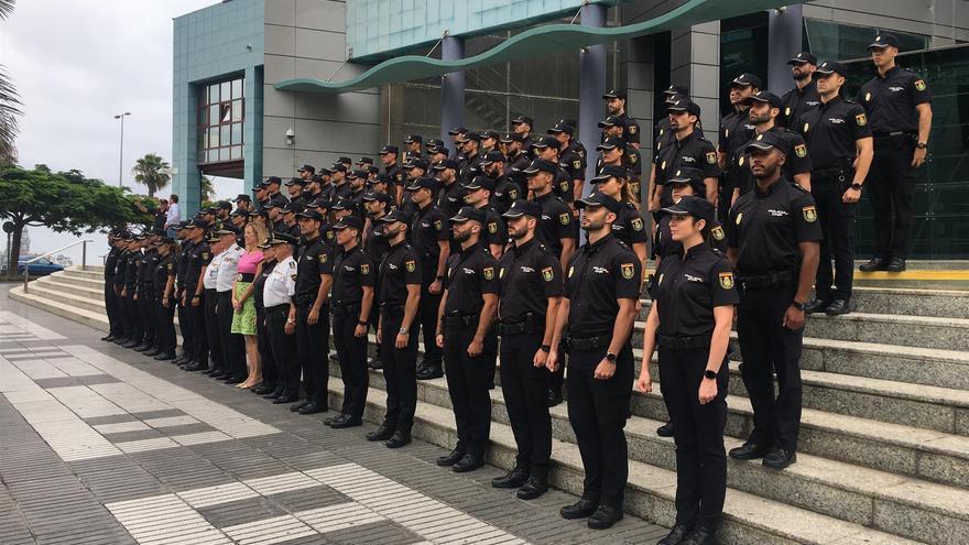 Nuevos agentes de la Policía Nacional en Canarias