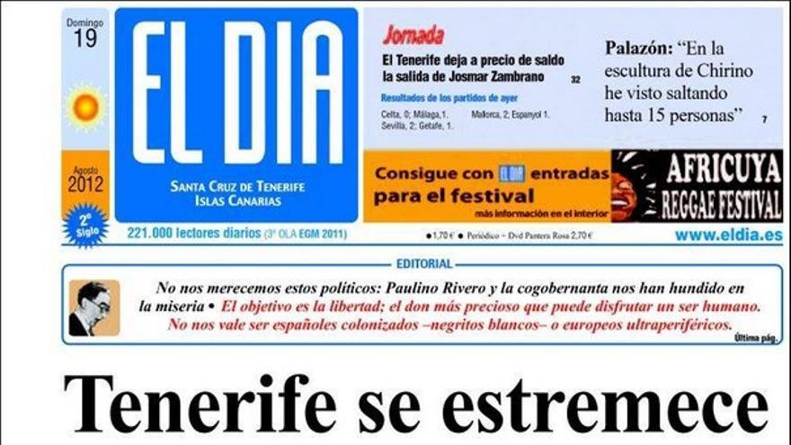 De las portadas del día (19/08/2012) #3