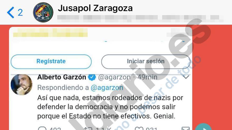 Pantallazo del grupo Jusapol Zaragoza