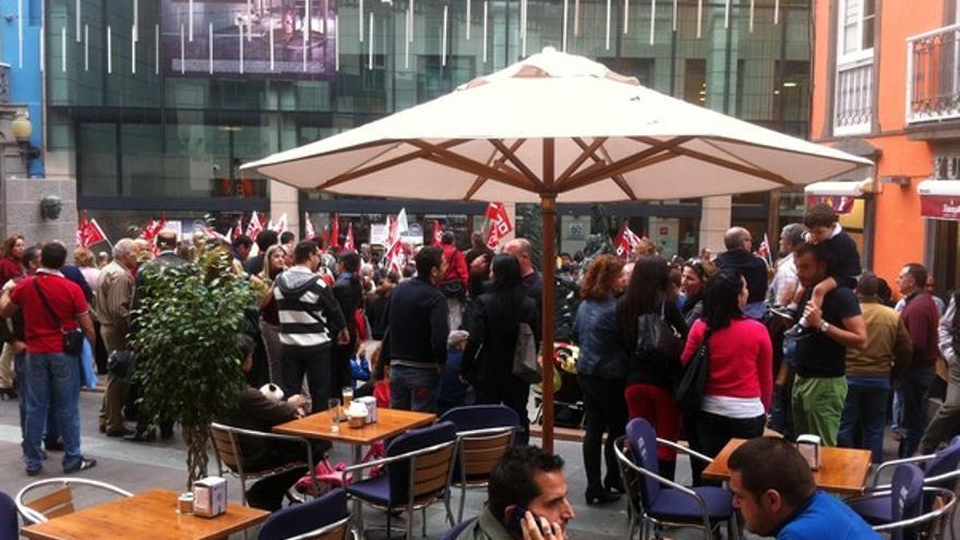 Protesta de empleados de Bankia en LPGC #8