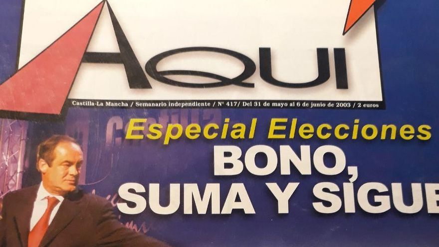 Portada de la Revista toledana 'Aquí' tras las Elecciones de Castilla-La Mancha en 2003