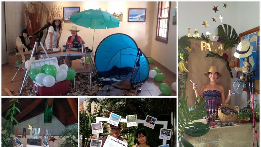 Los 'photocalls' fueron dispuestos en las Oficinas de Información Turística que gestiona el CIT Tedote.