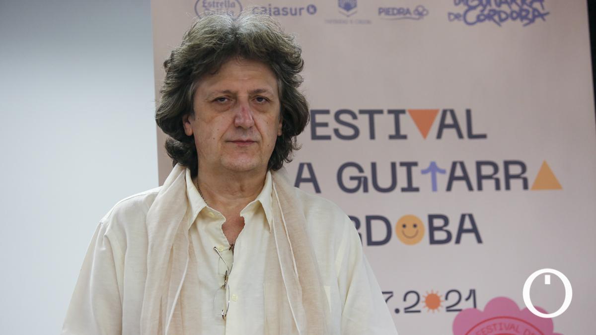 El guitarrista Juan Manuel Cañizares presentando su 'Concierto Mozárabe'
